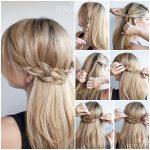 27 Вариант прически коса-водопад, но с простыми косами