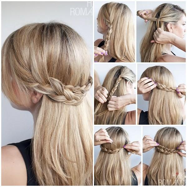 Вариант прически коса-водопад, но с простыми косами