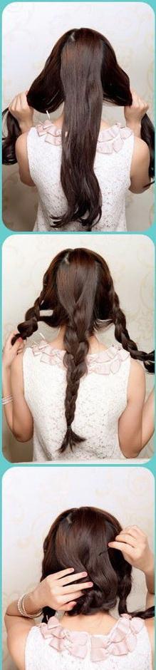 Элегантная прическа с косами