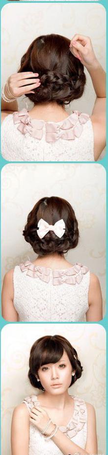 31 Элегантная прическа с косами