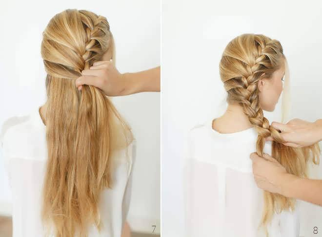 Прическа на каждый день на средние волосы косы
