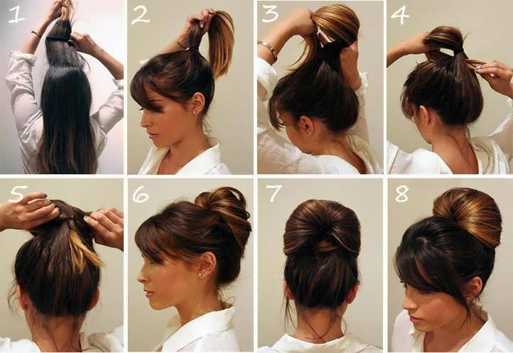 Причёски на каждый день на длинные волосы для работы своими руками фото 680