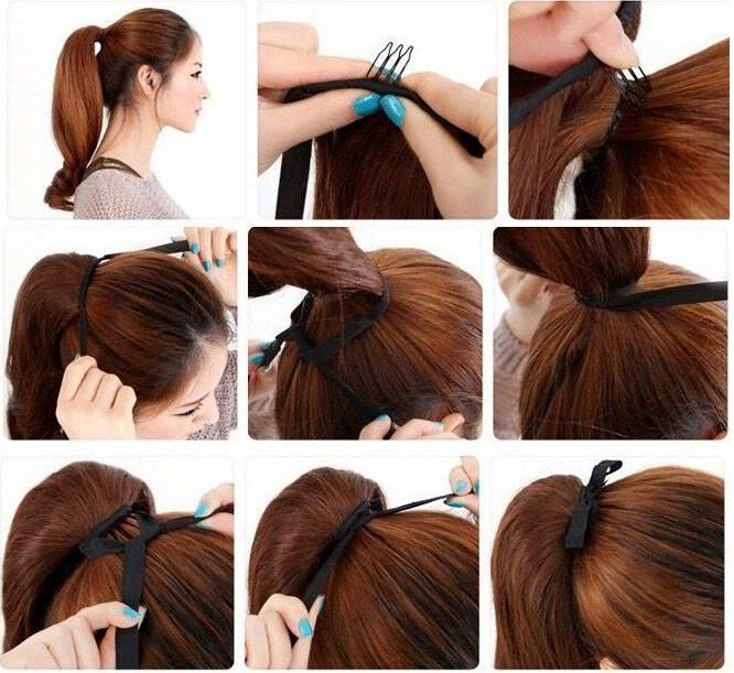 Как сделать прическу на искусственных волосах