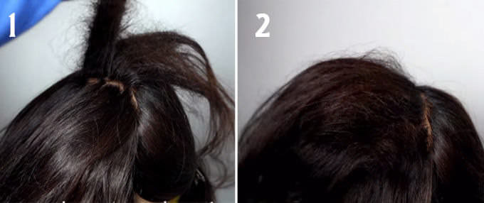 «Пузырьки» для длинных волос