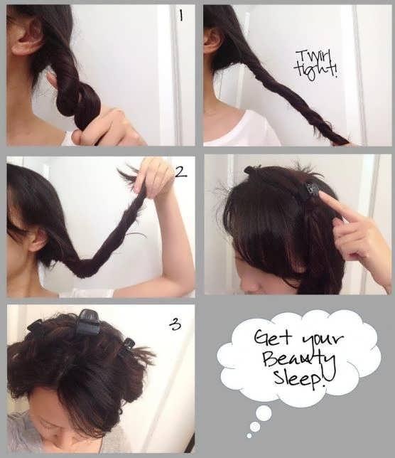 Кудряшки с помощью крабика для волос