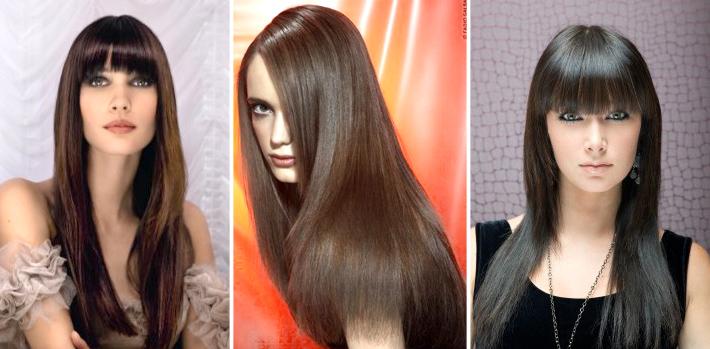Стрижки на длинные волосы одинаковой длины