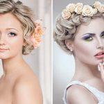 620 Укладка волос с цветами