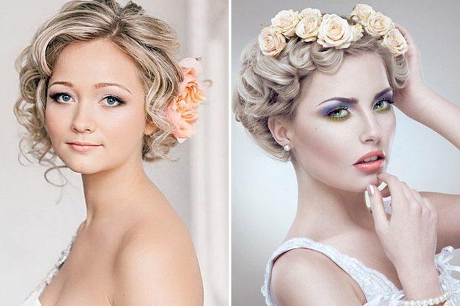 Укладка волос с цветами