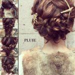 1107 Очень нежно и романтично, плетение косы