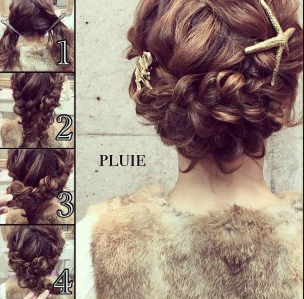 Очень нежно и романтично, плетение косы