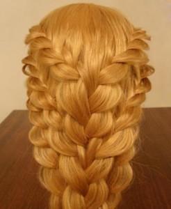 1234 Плетение кружевных кос