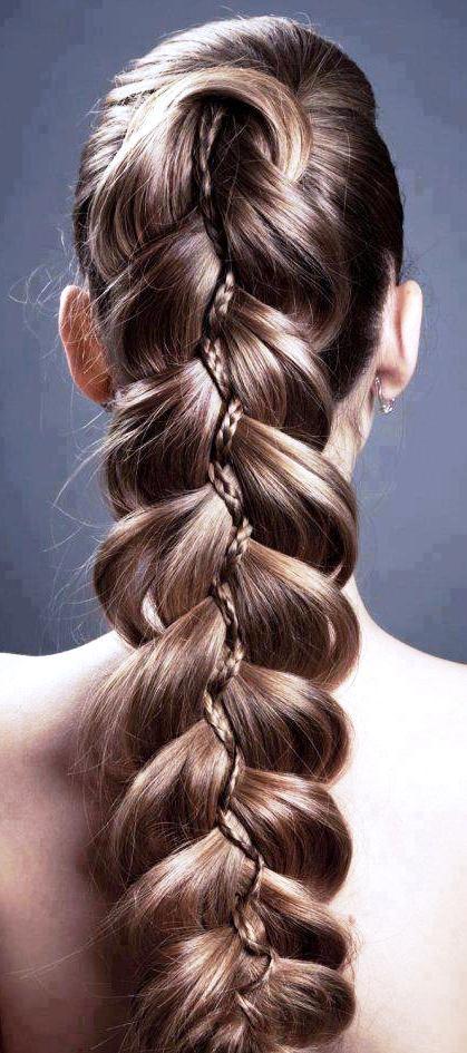 Ажурные объемные косы