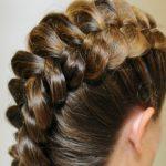 1284 Ажурные косы на средние волосы