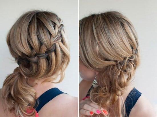1302 Ажурные косы на длинные волосы