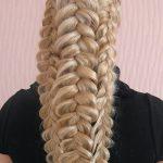 1320 Ажурные косы из волос