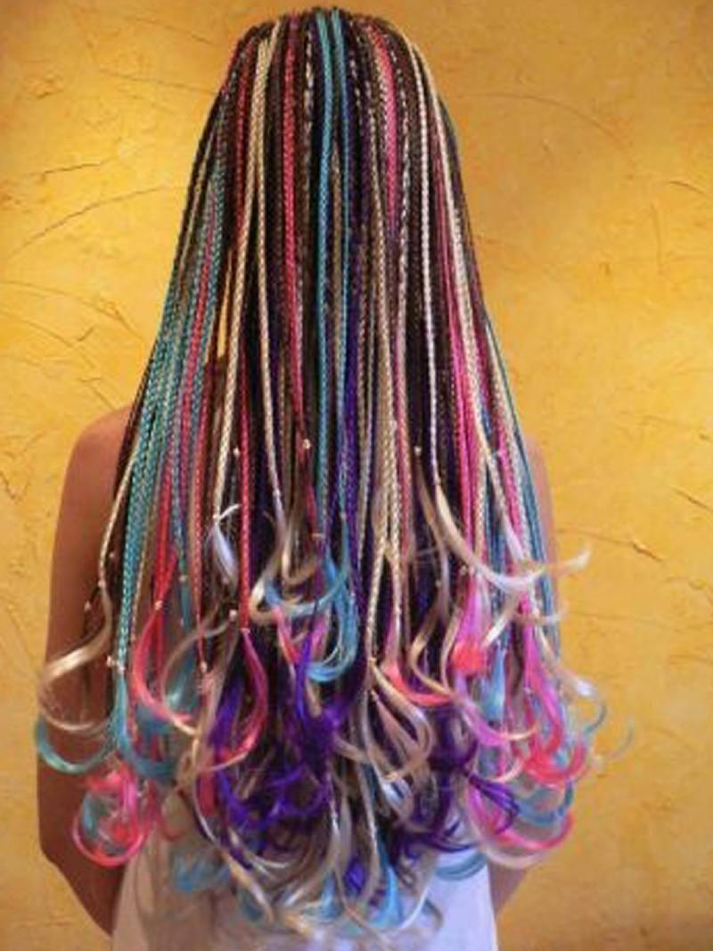 Цвет и форма африканских косичек