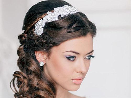 Греческая коса с повязкой