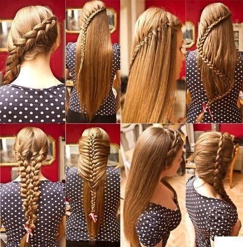 Виды французских кос