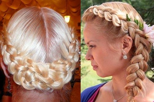 2053 Красивые французские косы