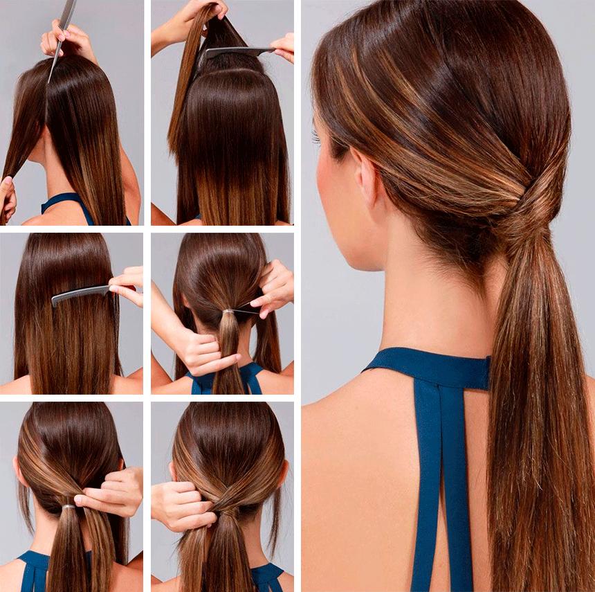 легкие прически длинных волос видео