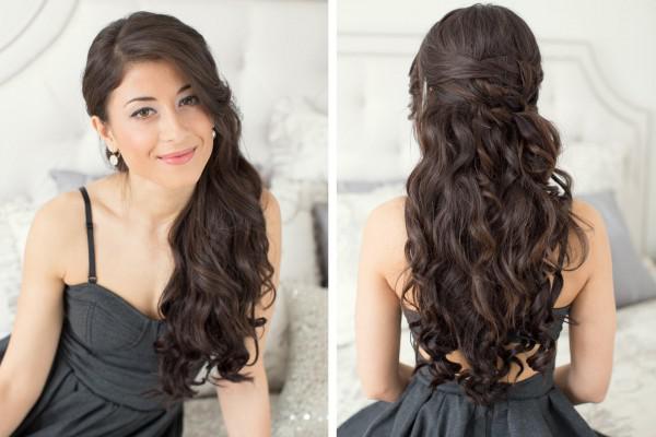 4691 Прически для подкрученых волос каскад