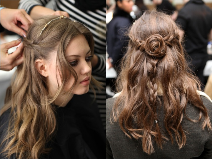 Розочка из кос в стиле Родарте