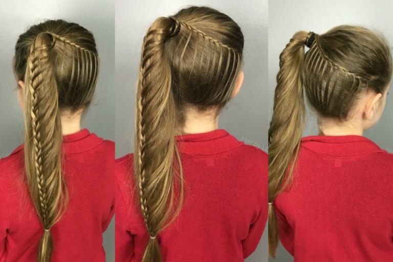Кружевная ленточка из волос