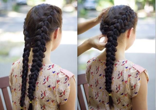Коса с переплетом по бокам