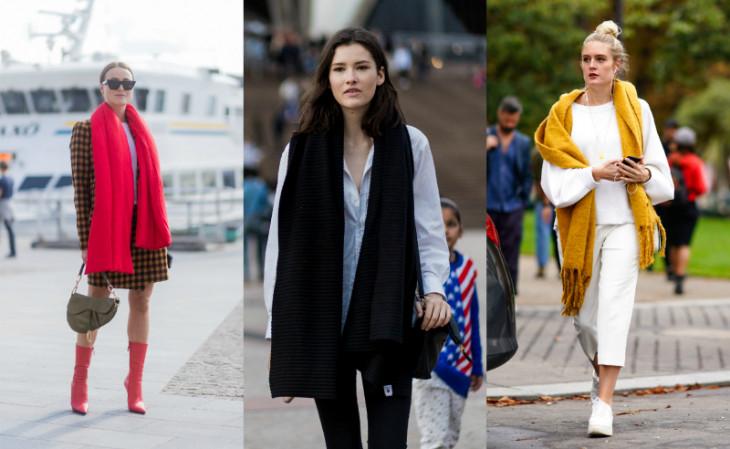 5 стильных вариантов, как носить шарф этой осенью