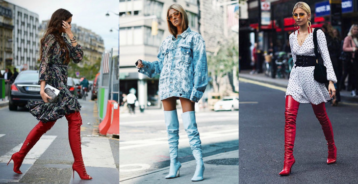Street style trends: самые модные сапоги на зиму 2017-2018