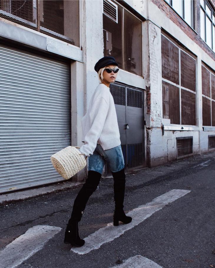 6656 Тепло и стильно: какие вязаные вещи носят известные fashion-блогеры?