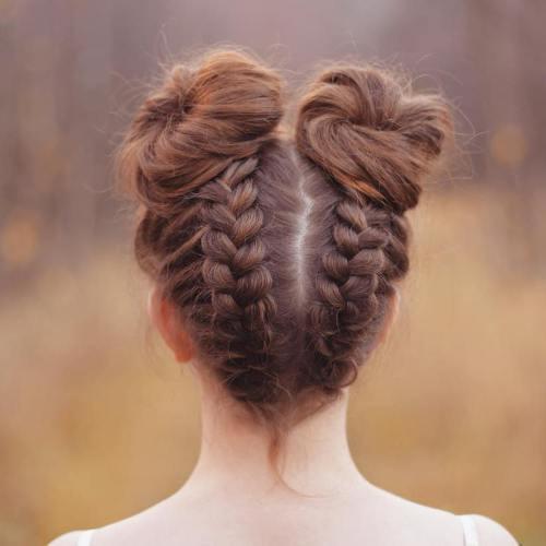 Снова в школу: модные прически на 1 сентября для средних волос