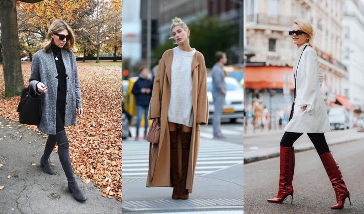 Как носить ботфорты этой осенью: берем пример со звезд street style
