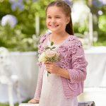 10017 Детский жакет с цветами