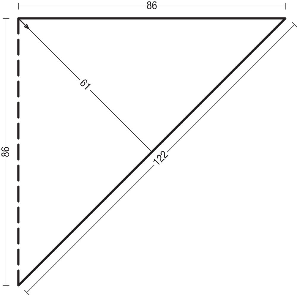Треугольная шаль с бахромой