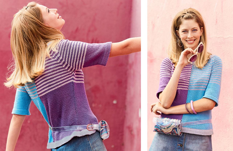 10096 Разноцветный джемпер покроя реглан
