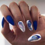 9901 Море на ногтях: стильные варианты синего маникюра