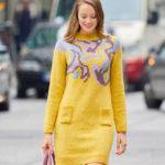 10957 Платье-свитер с жаккардовым узором