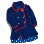 11132 Детское пальто с контрастной отделкой