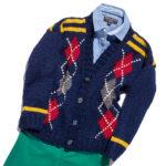 11162 Жакет с ромбами для мальчика