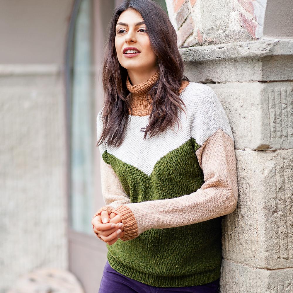 11278 Четырехцветный свитер