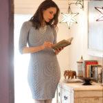 11282 Серое облегающее платье