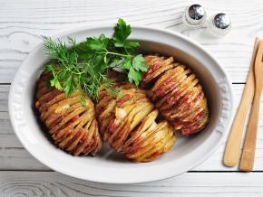 12420 Картофель гармошкой запеченный в духовке