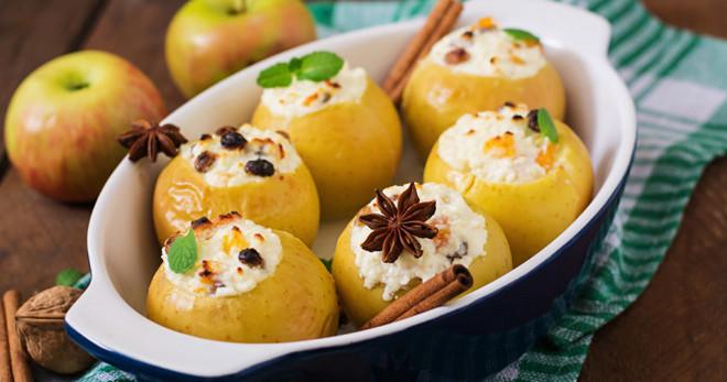 13125 Запеченные яблоки с творогом и медом