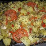 15246 Камбала с картошкой в духовке
